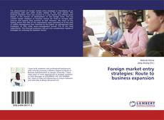 Bookcover of Foreign market entry strategies: Route to business expansion
