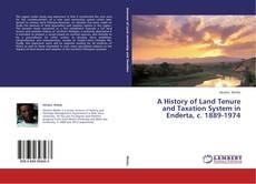 Borítókép a  A History of Land Tenure and Taxation System in Enderta, c. 1889-1974 - hoz