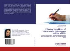Обложка Effect of two kinds of higher order thinking on writing ability