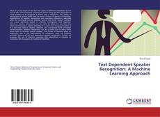 Обложка Text Dependent Speaker Recognition: A Machine Learning Approach
