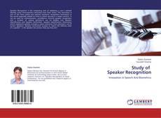 Capa do livro de Study of Speaker Recognition