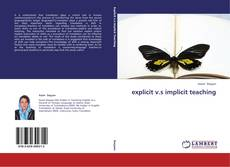 Bookcover of explicit v.s implicit teaching