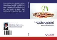 A Critical Social Analysis of Economic Personalism kitap kapağı