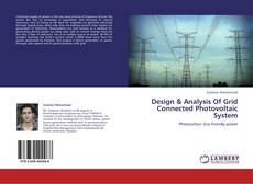 Bookcover of Design & Analysis Of Grid Connected Photovoltaic System