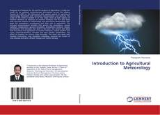 Bookcover of Introduction to Agricultural Meteorology