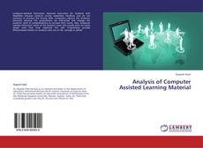 Capa do livro de Analysis of Computer Assisted Learning Material