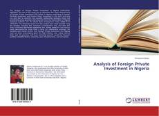 Bookcover of Analysis of Foreign Private Investment in Nigeria