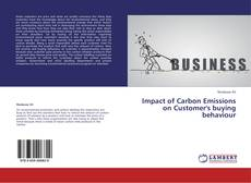 Impact of Carbon Emissions on Customer's buying behaviour kitap kapağı