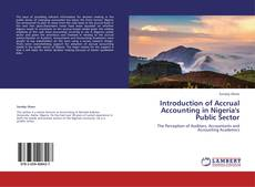 Buchcover von Introduction of Accrual Accounting in Nigeria's Public Sector