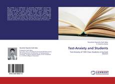 Couverture de Test-Anxiety and Students