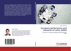 Copertina di Company performance and measures of value added