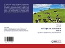 Copertina di Acute phase proteins in cattle