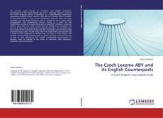 Bookcover of The Czech Lexeme ABY and its English Counterparts