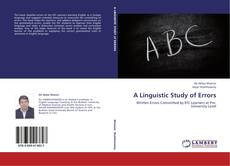 Bookcover of A Linguistic Study of Errors
