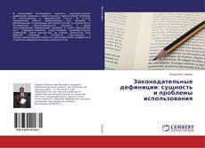 Bookcover of Законодательные дефиниции: сущность и проблемы использования