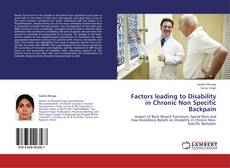 Buchcover von Factors leading to Disability in Chronic Non Specific Backpain
