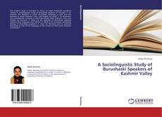 Bookcover of A Sociolinguistic Study of Burushaski Speakers of Kashmir Valley