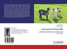 Bookcover of Evaluation Of Goat Milk