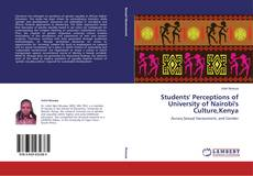 Students' Perceptions of University of Nairobi's Culture,Kenya的封面