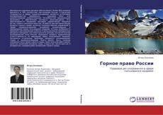 Bookcover of Горное право России