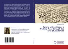 Couverture de Private universities as a Working Place through the Eyes of Academics