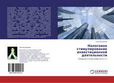 Налоговое стимулирование инвестиционной деятельности kitap kapağı