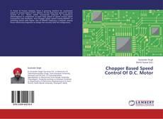 Capa do livro de Chopper Based Speed Control Of D.C. Motor