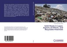 Capa do livro de Solid Waste in Lagos: Aspects of Effects, and Recyclable Potentials