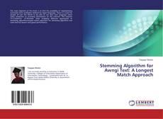 Borítókép a  Stemming Algorithm for Awngi Text: A Longest Match Approach - hoz