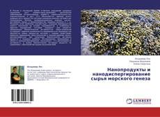 Buchcover von Нанопродукты и нанодиспергирование сырья морского генеза