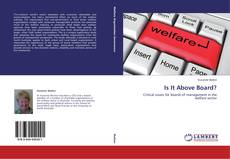 Bookcover of Is It Above Board?