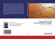 Couverture de Language use and communication of MDGs