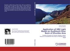 Buchcover von Application of HBV Light Model on Dudhkoshi River Basin of Khumbu Area