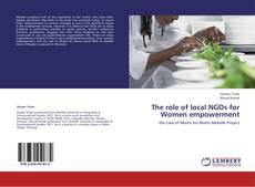Portada del libro de The role of local NGOs for Women empowerment
