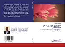 Copertina di Professional Ethics In Education