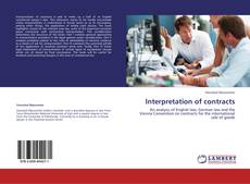 Couverture de Interpretation of contracts