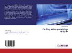 Bookcover of Carding, crime prevention analysis