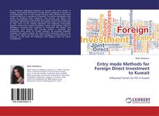Bookcover of Entry mode Methods for Foreign Direct Investment to Kuwait