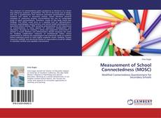 Bookcover of Measurement of School Connectedness (MOSC)