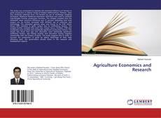 Couverture de Agriculture Economics and Research