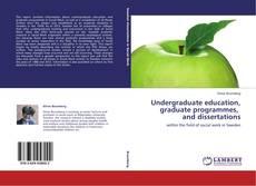 Buchcover von Undergraduate education, graduate programmes, and dissertations