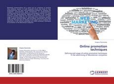 Bookcover of Online promotion techniques