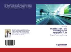 Investigations On Philosophy Of Religion(Vol.1) kitap kapağı