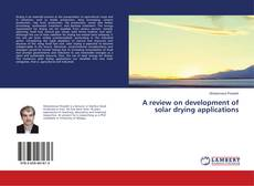 Обложка A review on development of solar drying applications