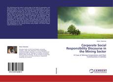 Buchcover von Corporate Social Responsibility Discourse in the Mining Sector