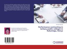 Couverture de Performance contracting in tertiary public colleges in Kakamega, Kenya