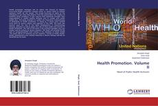 Bookcover of Health Promotion. Volume II