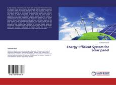 Bookcover of Energy Efficient System for Solar panel