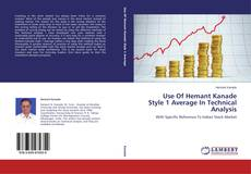 Capa do livro de Use Of Hemant Kanade Style 1 Average In Technical Analysis