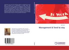 Обложка Management & Tend to stay